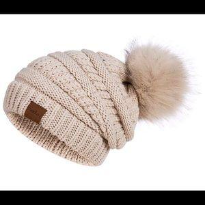 Womens Winter Slouchy Beanie Hat Knit Warm Fleece